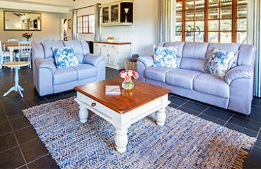 Guest house living space for Oak Ridge Guest house in Underberg