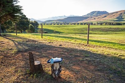 Guesthouse with views of the Drakensberg mountains